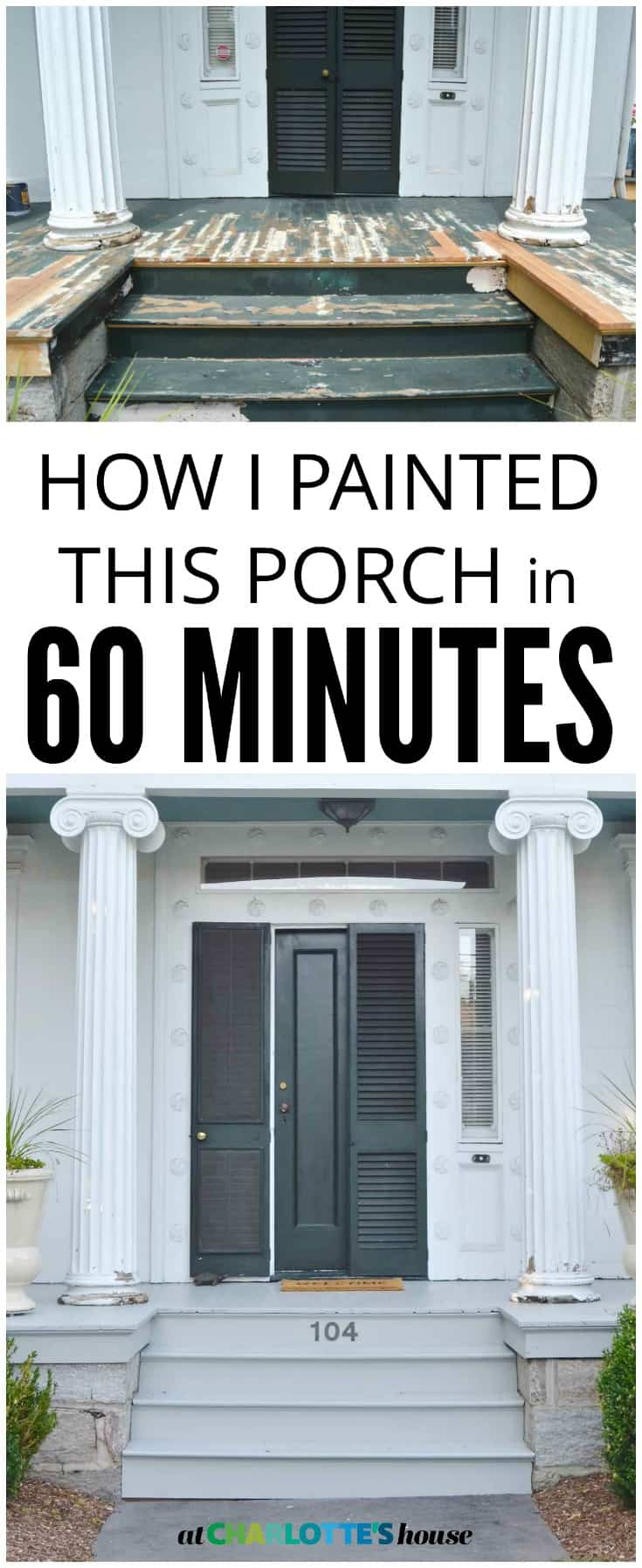 Thanks to this tool... I was able to paint this porch in under and hour!