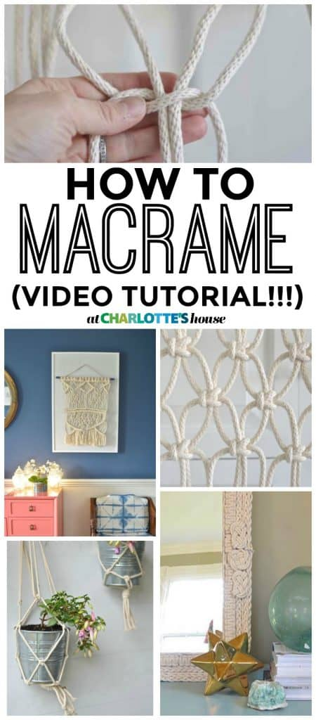 Easy macrame instructions! Learn how to make three basic macrame knots... with VIDEO!