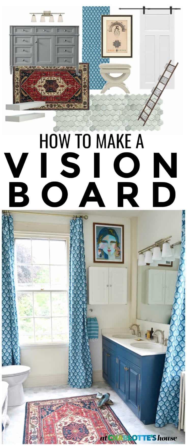 Tips for planning a room and making an awesome vision board to help you plan your space!
