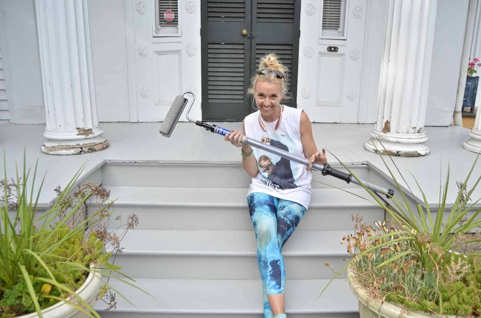 painted porches with paint stick