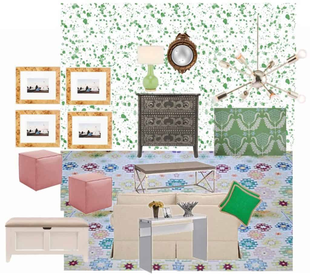 playroom vision board