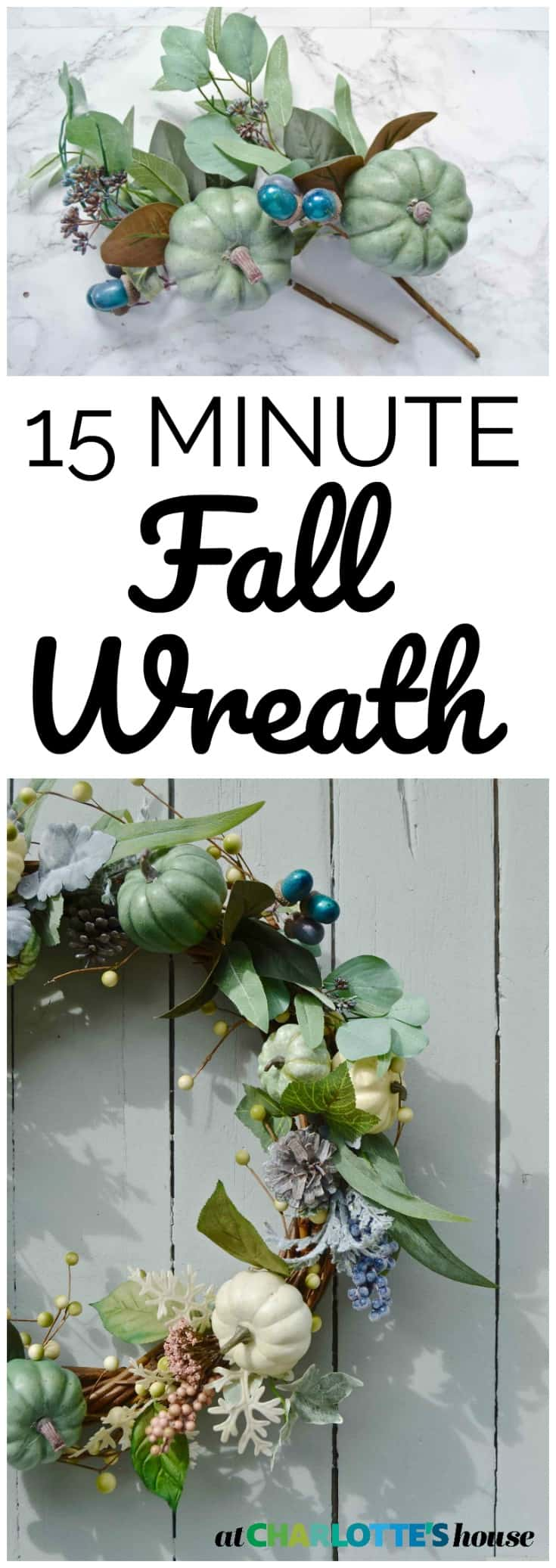 I LOVE a seasonal wreath but they can be SO expensive! This one cost half the price of the others and only took 15 minutes to make!