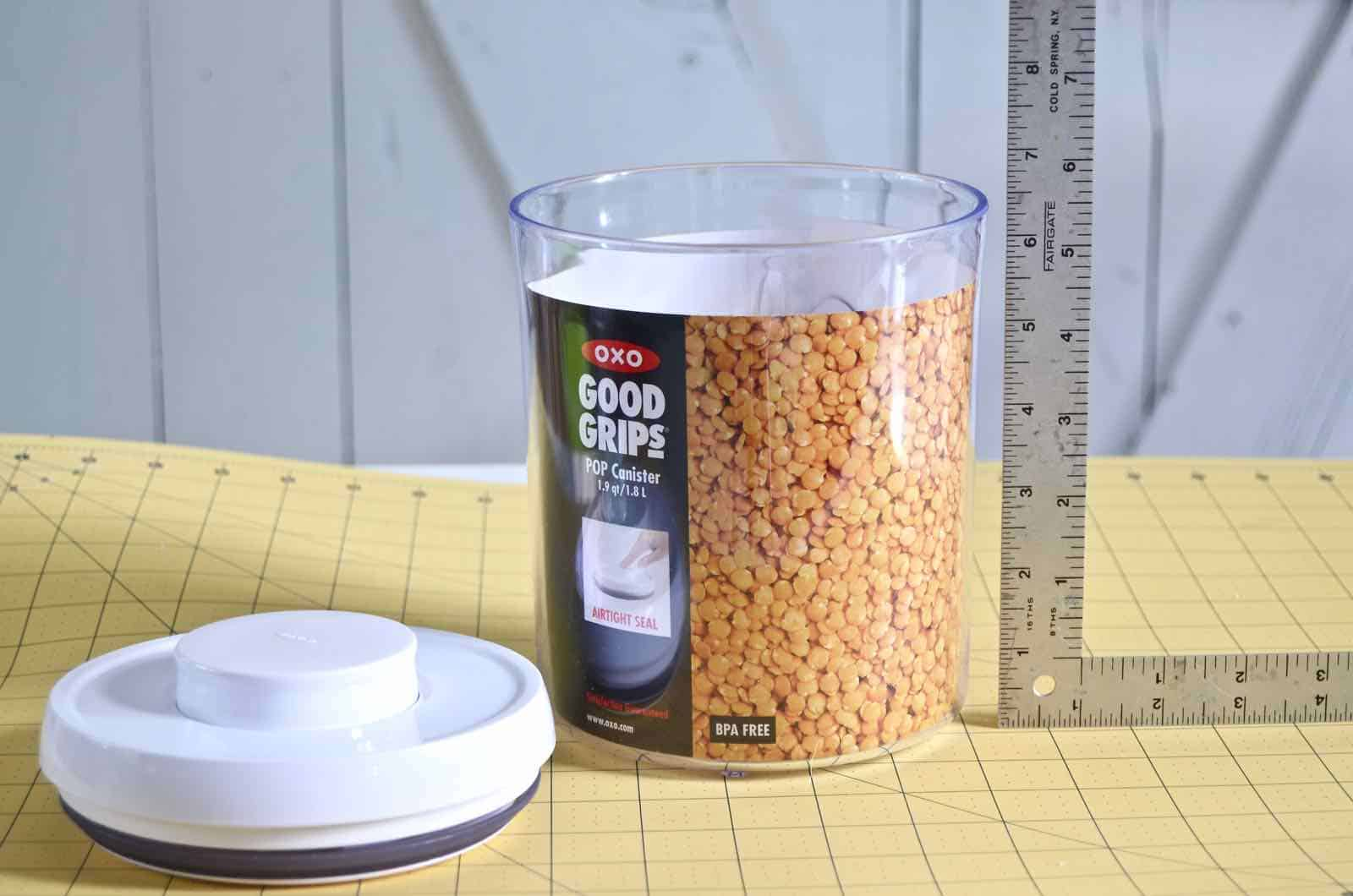 measure height of container