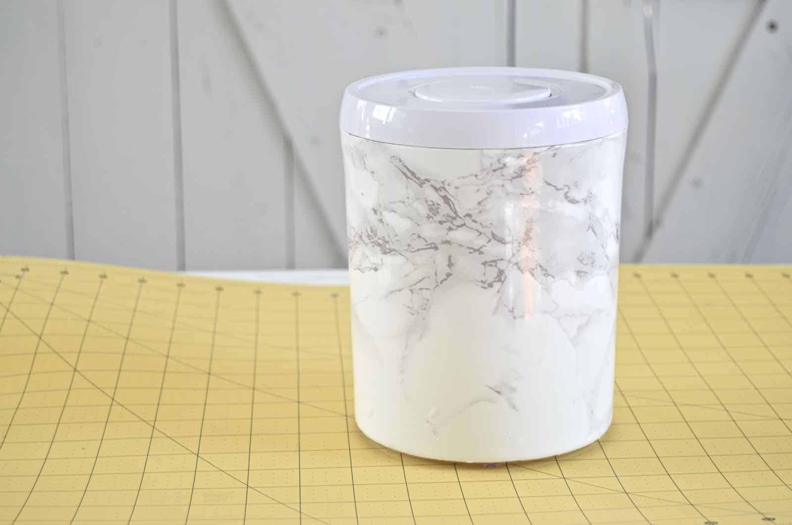 diy marble kitchen canister
