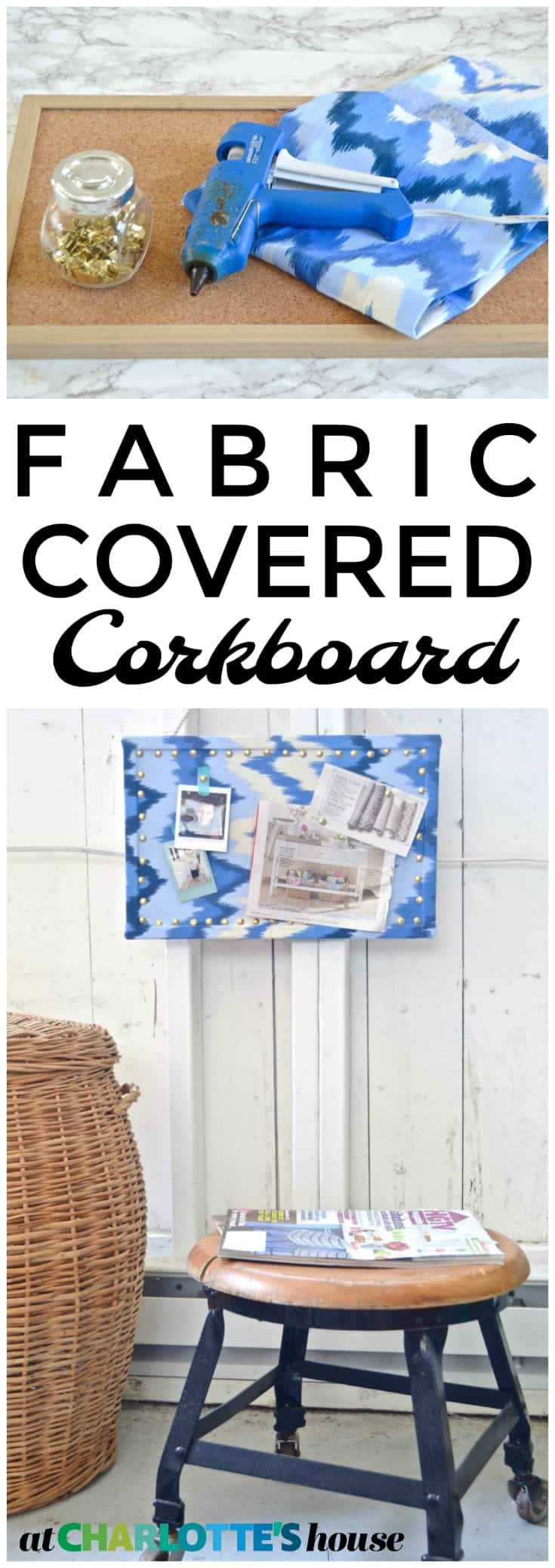 update an old cork board to be a chic and transformed