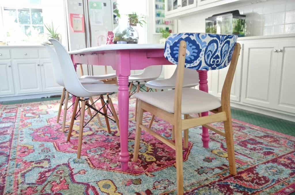 Patterned Kitchen Chair Makeover
