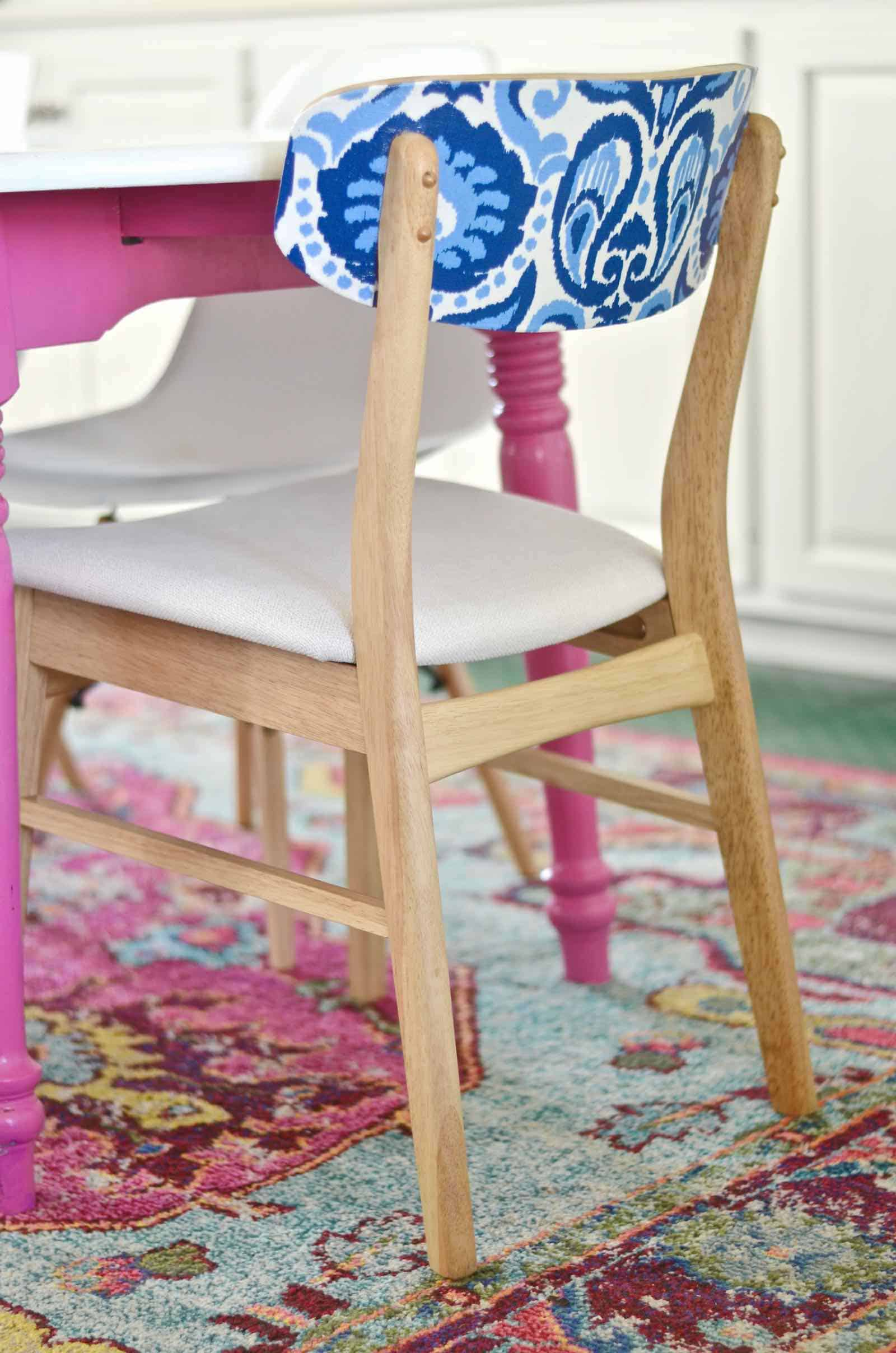 using patterned fabric to update furniture