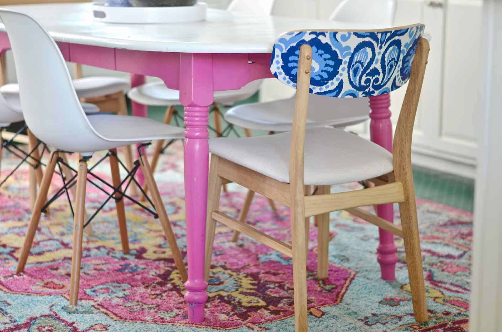 using fabric to update furniture