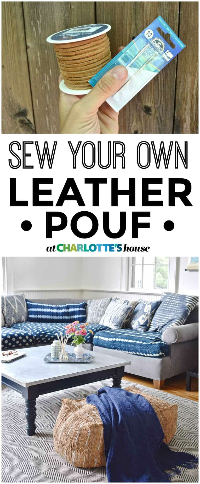How to make your own leather pouf!
