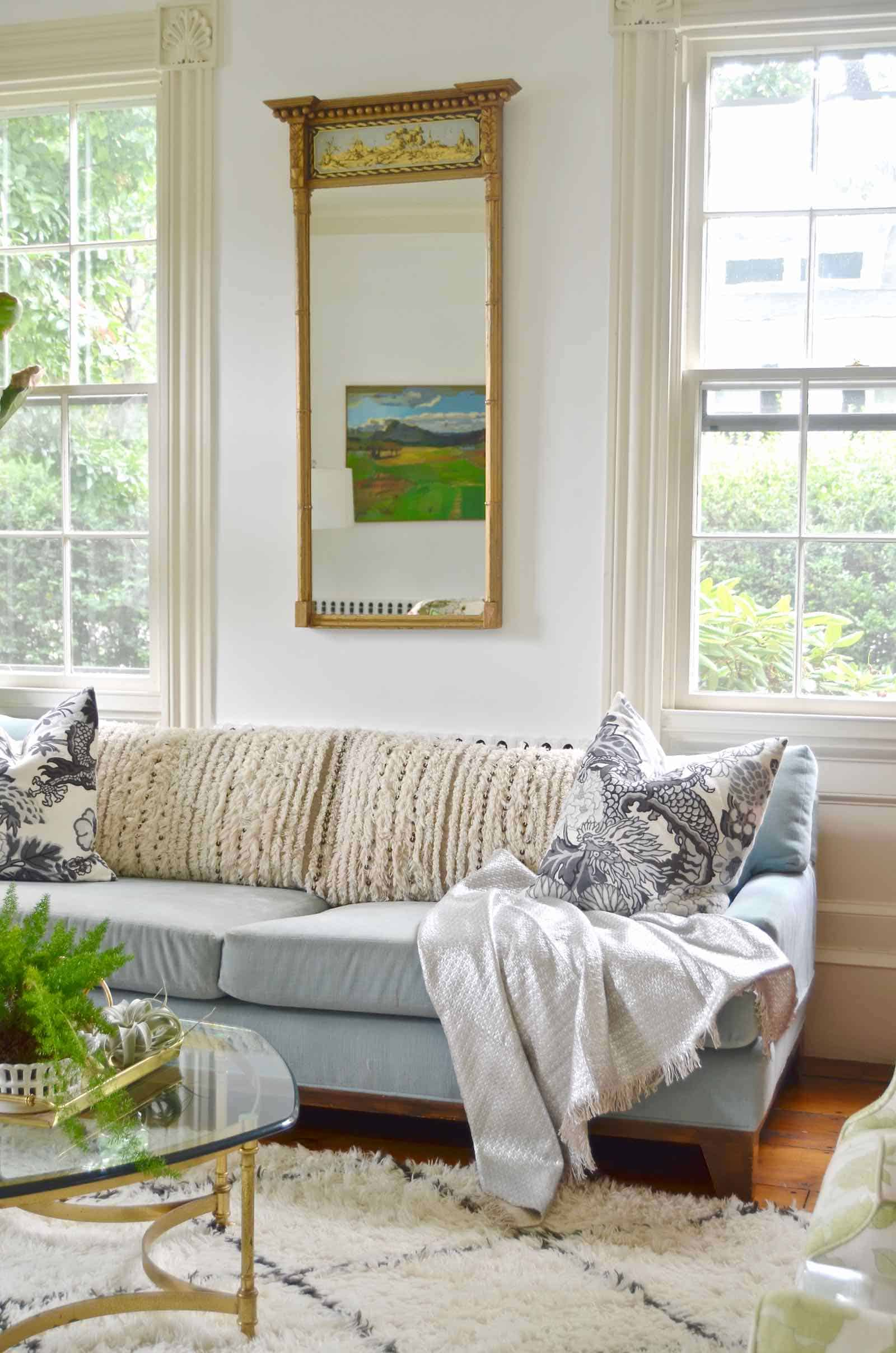 Use textiles to help you ease into fall decor