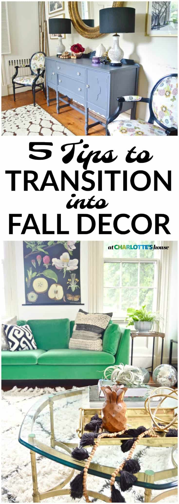 If you're not quite ready for autumn decor like pumpkins and gourds, these tips will help ease that transition from summer into fall!