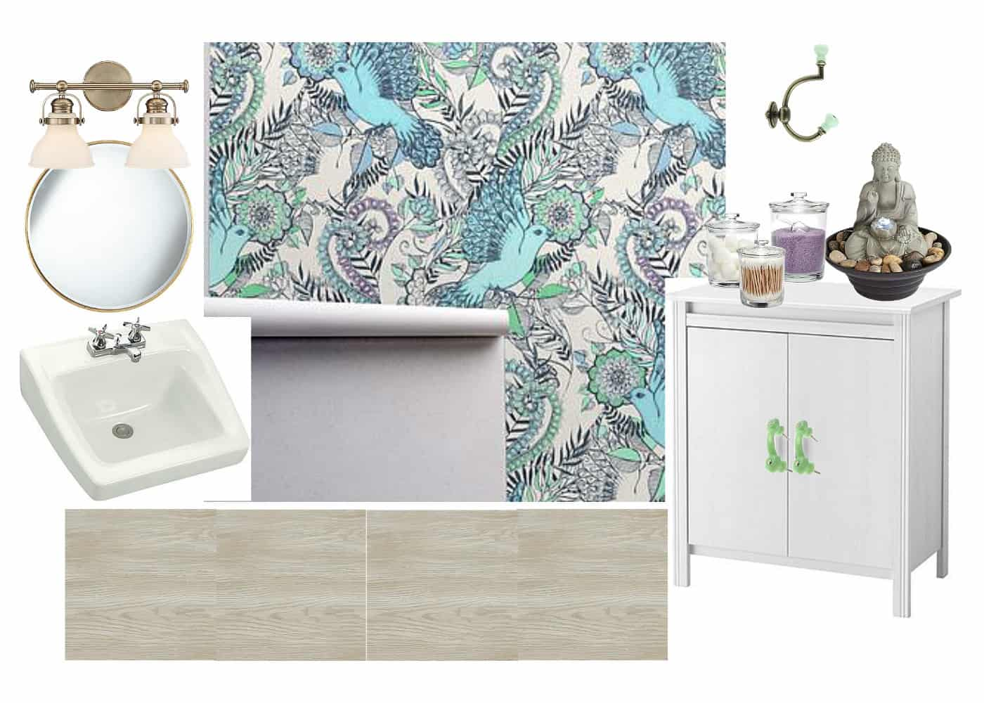vision for colorful third floor bathroom