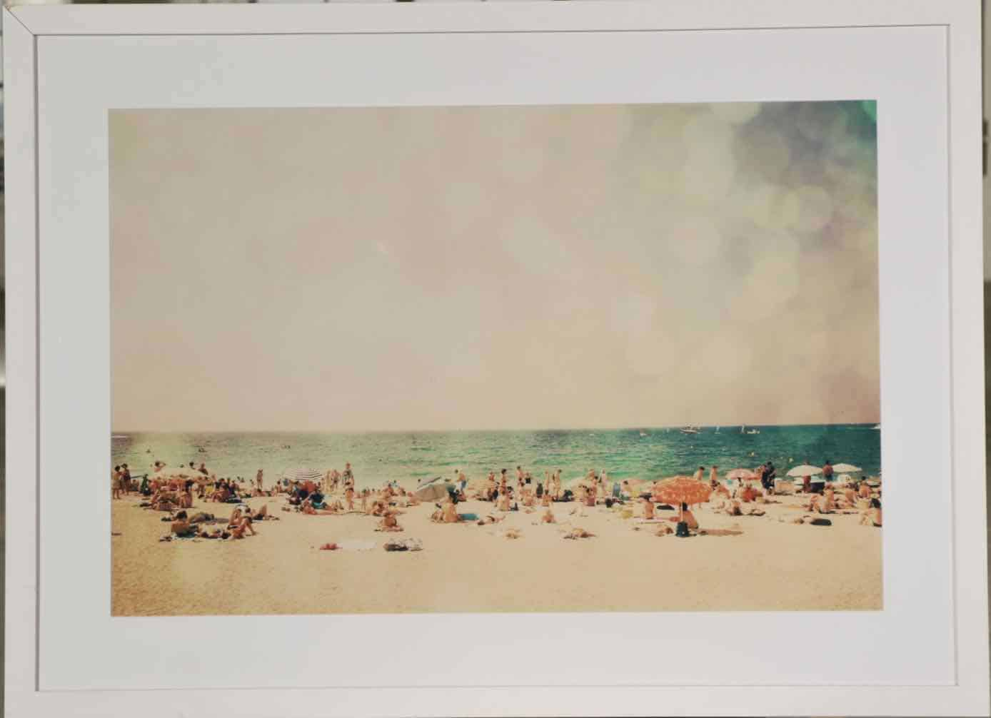beach painting at auction
