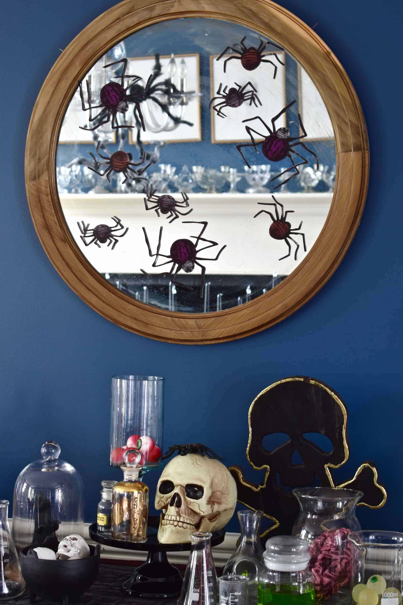 sideboard halloween decor