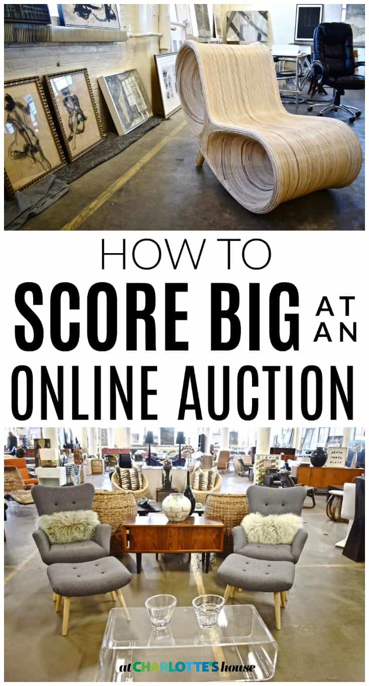 Online auction tips and a killer sale at charlotte 39 s house for Auction advice