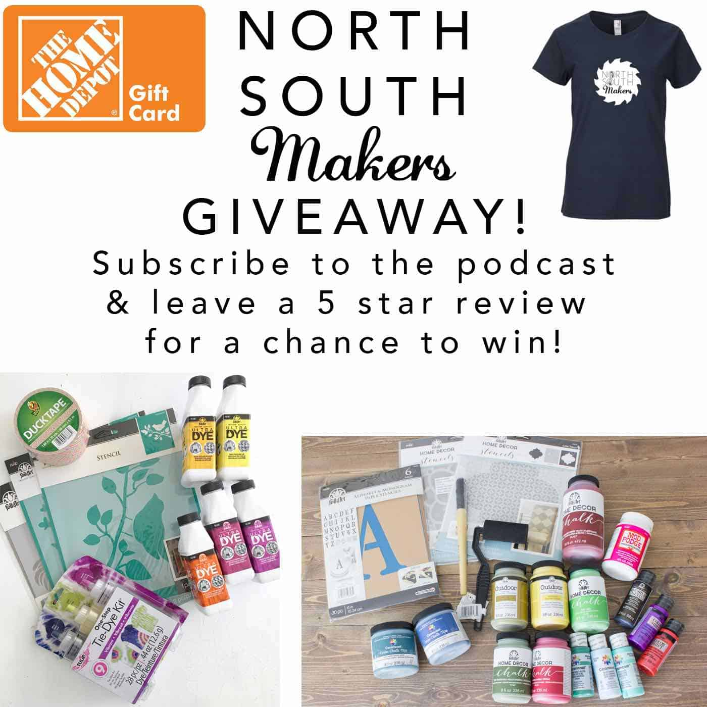 giveaway for the north south makers podcast