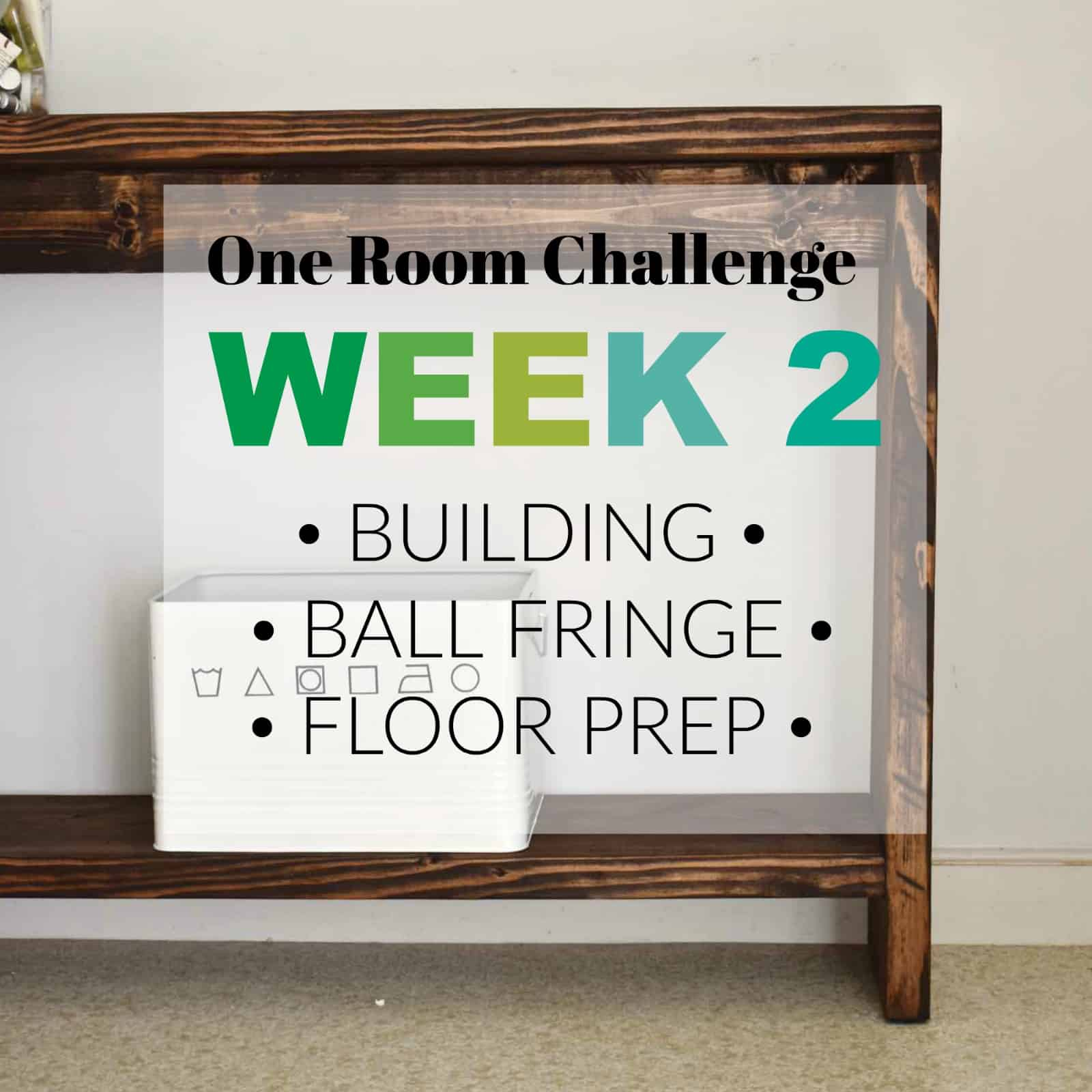 one room challenge week 2 title