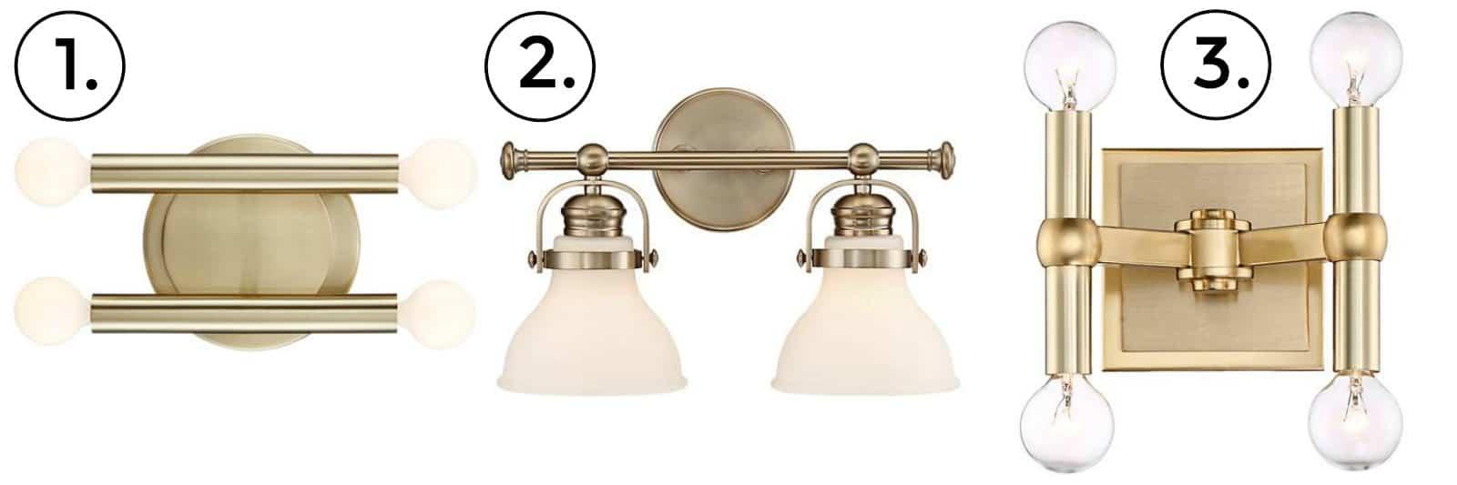 bathroom lamp options