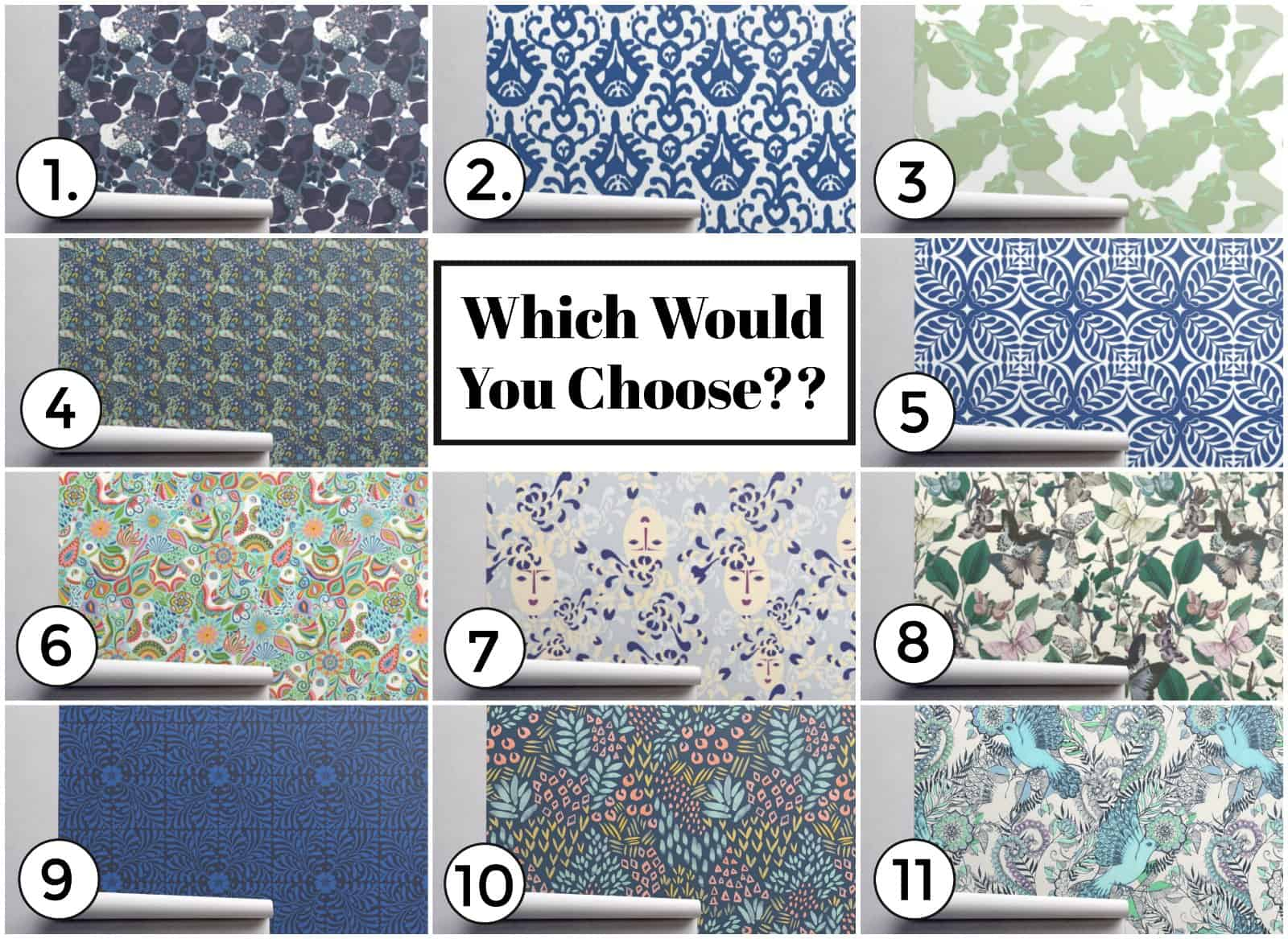 spoonflower wallpaper options