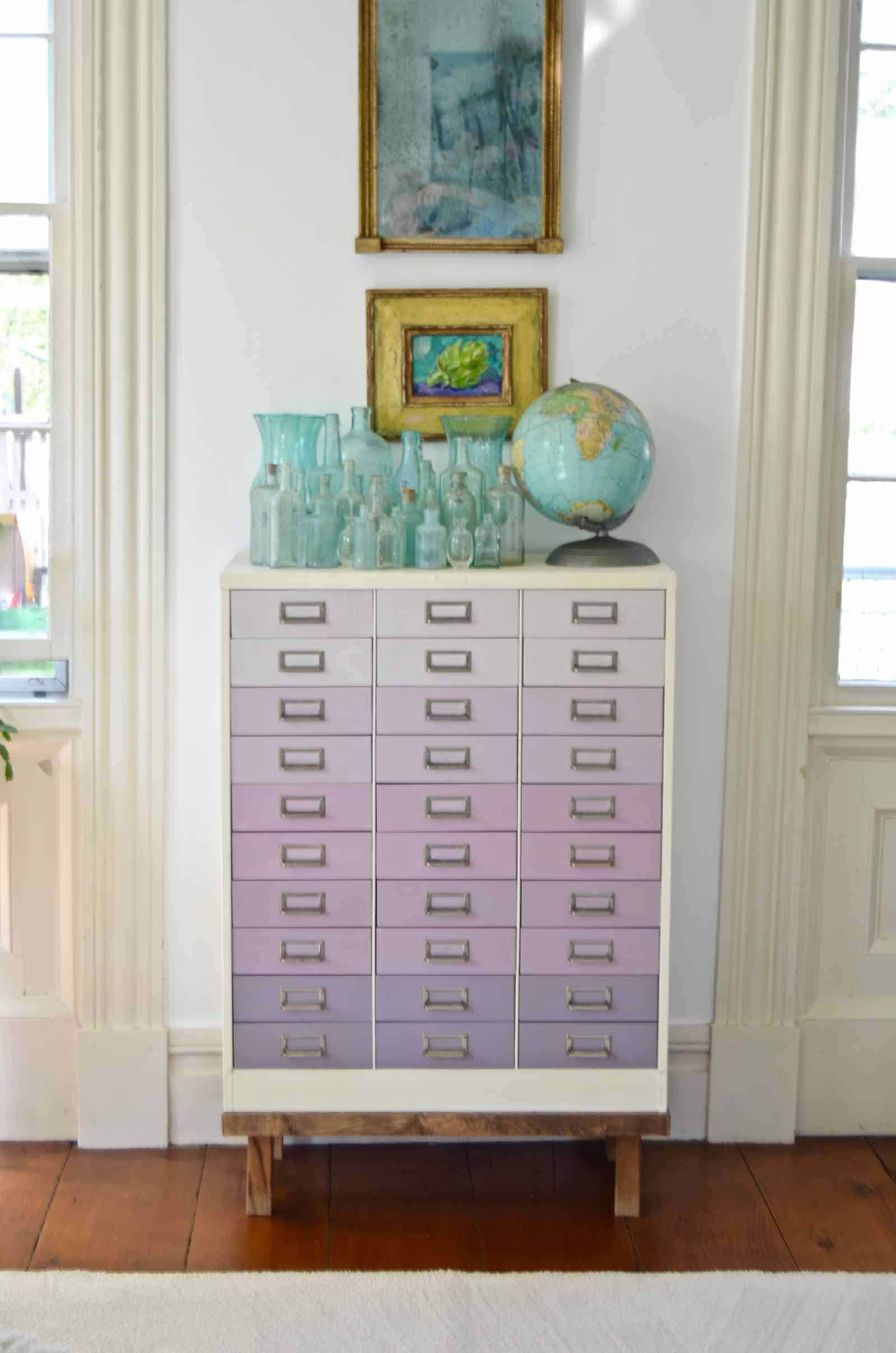 our favorite DIY projects ombre file cabinet