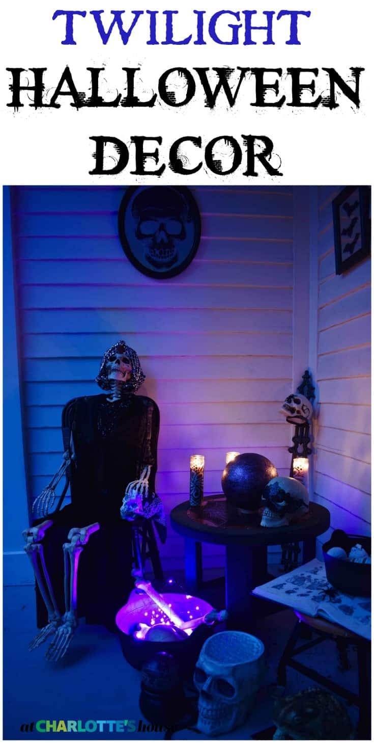 twilight halloween porch decor
