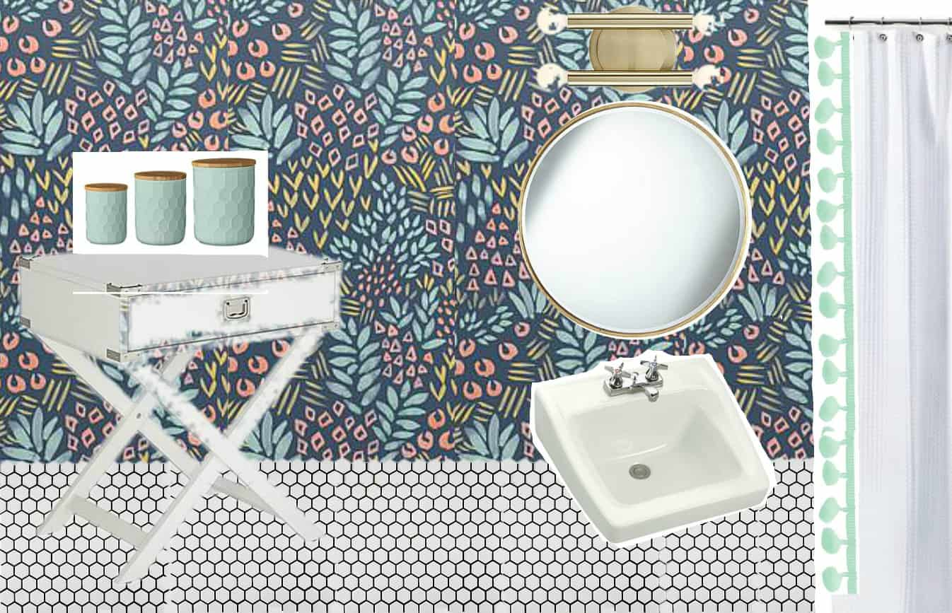 Vision Board for colorful bathroom update