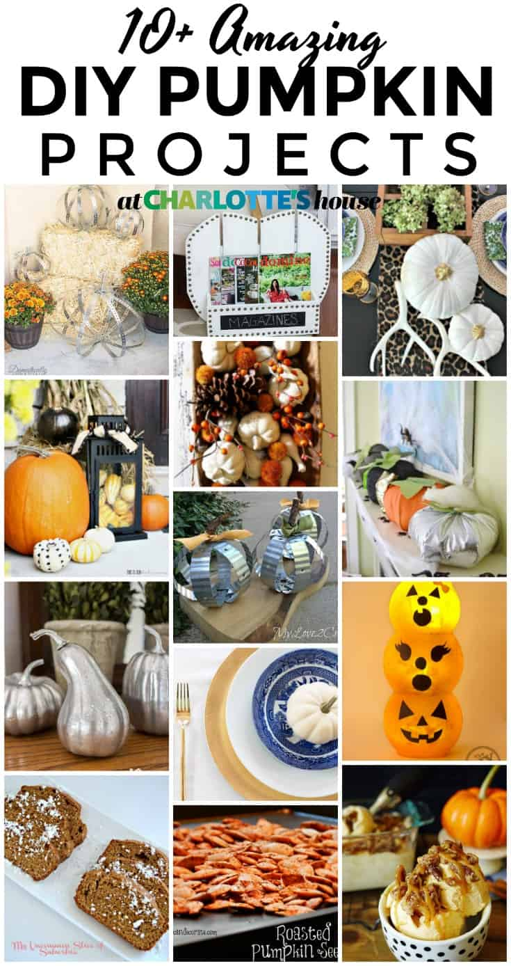 best pumpkin DIYs... so many great options for pumpkin themed decorating