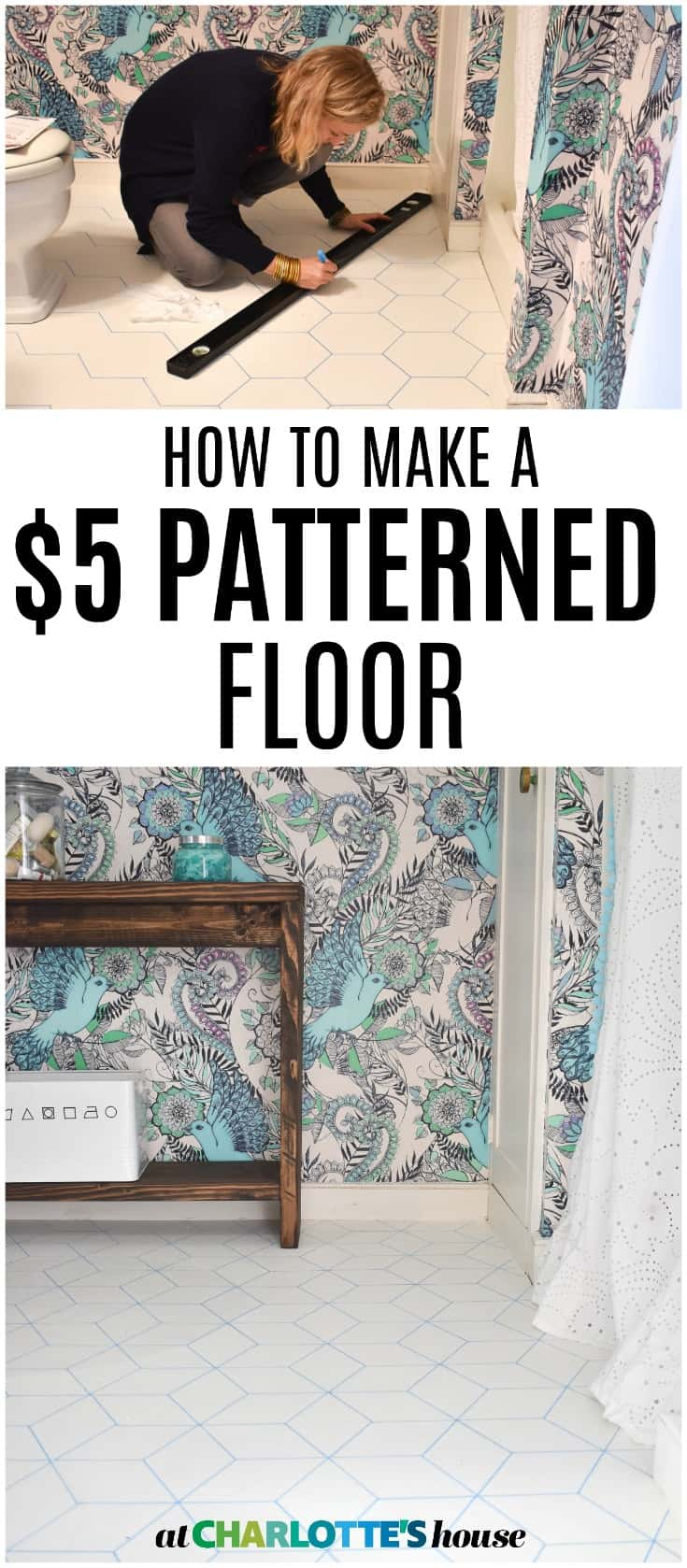 how to revive a dated vinyl floor for $5!