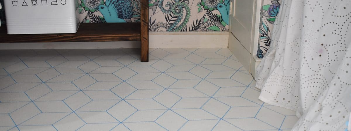 $5 Graphic Painted Vinyl Floors