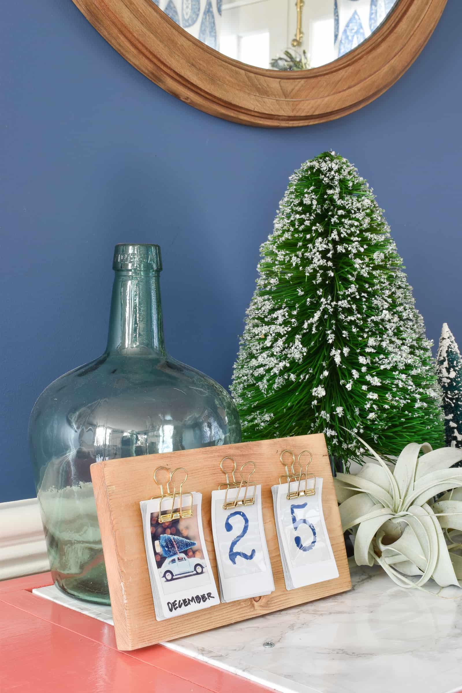 scrap wood instax calendar