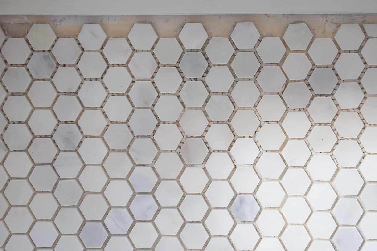 detail of hex tile edges