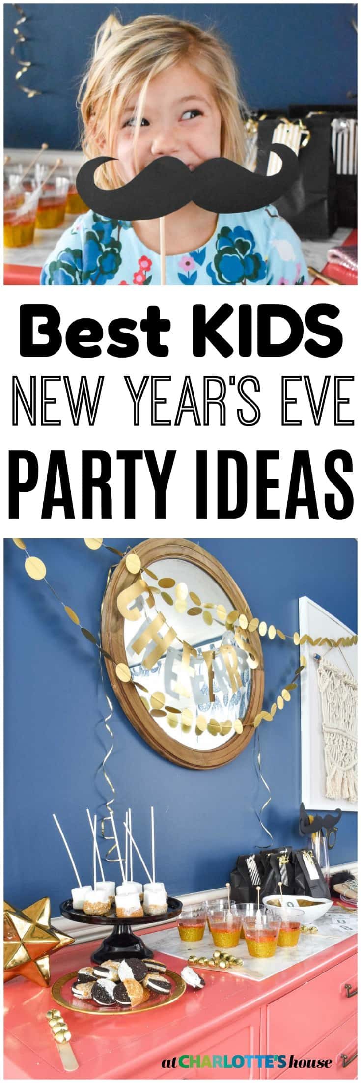 fun and quick activities, decor and snacks for a kids new year's eve party!