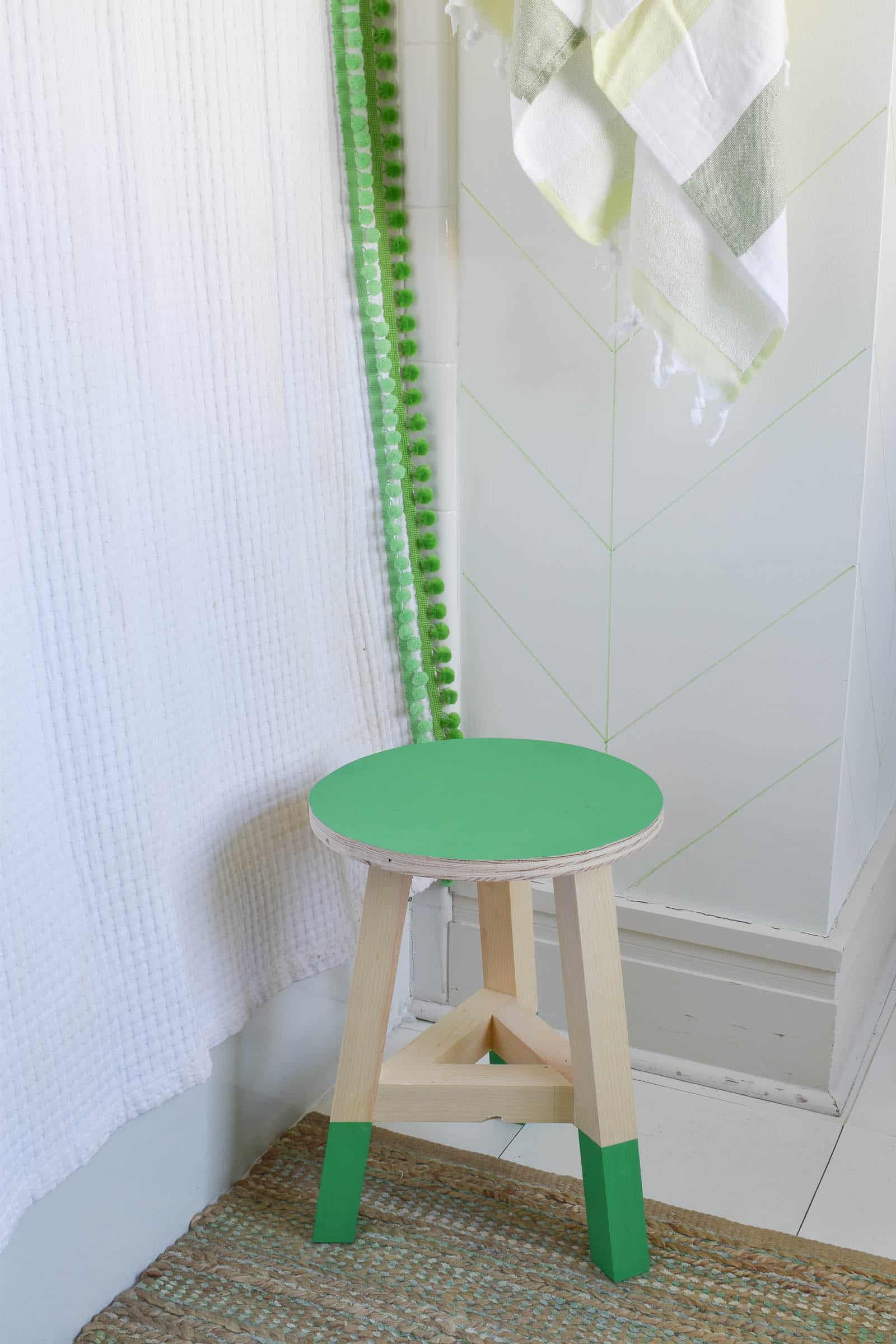 DIY stool for bathroom