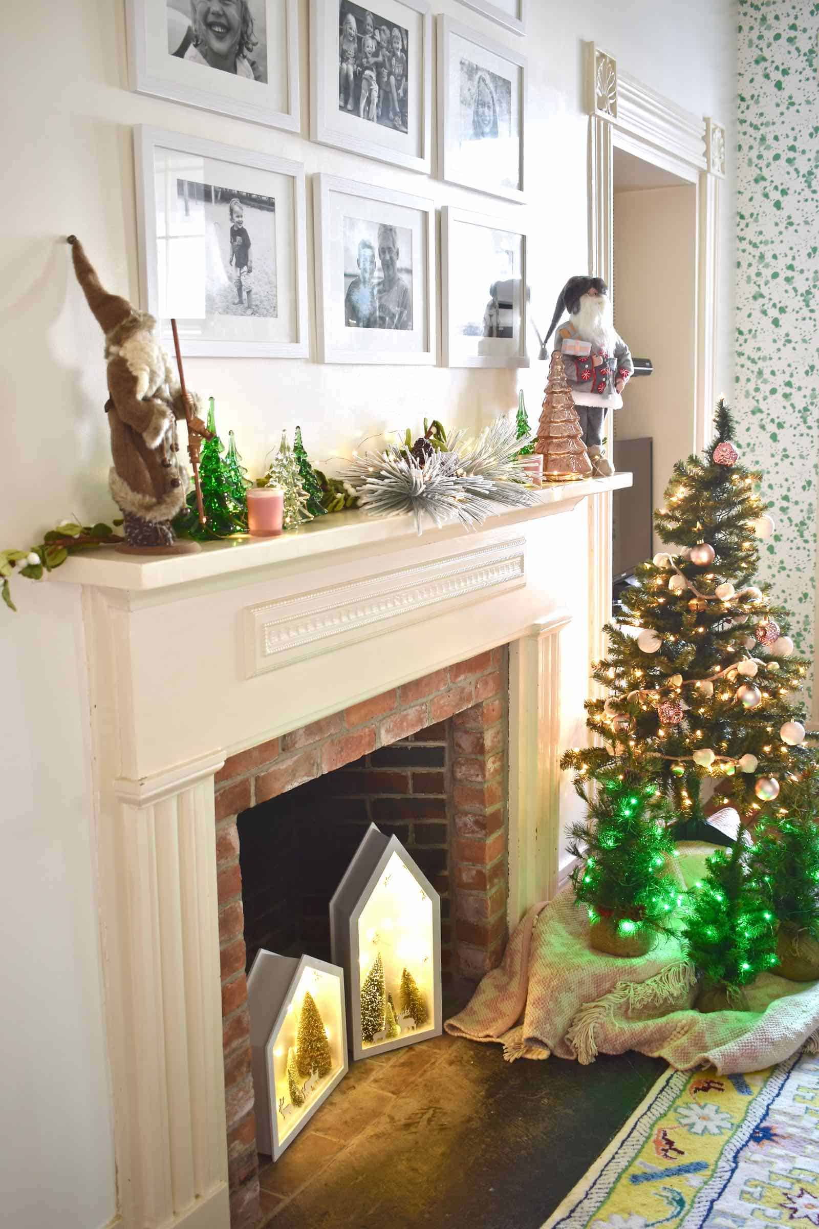 fireplace in playroom