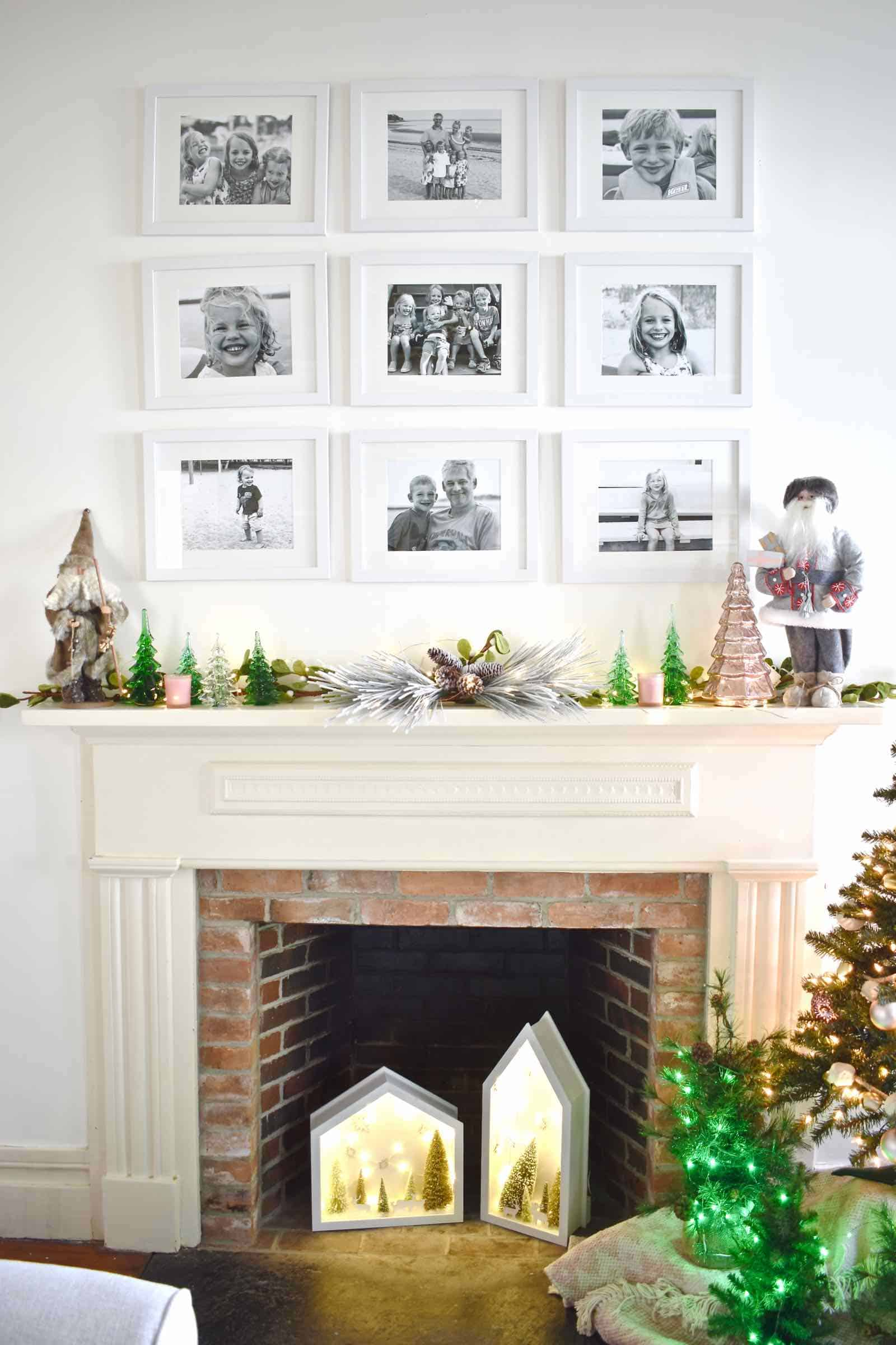 christmas playroom fireplace