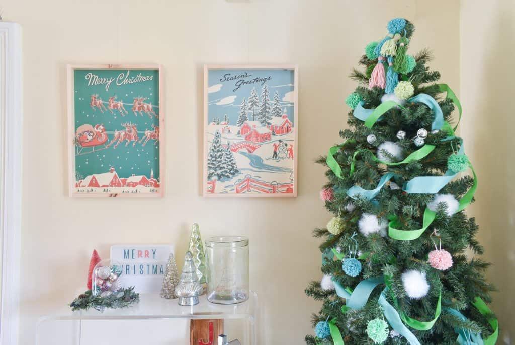 DIY Retro Christmas Art