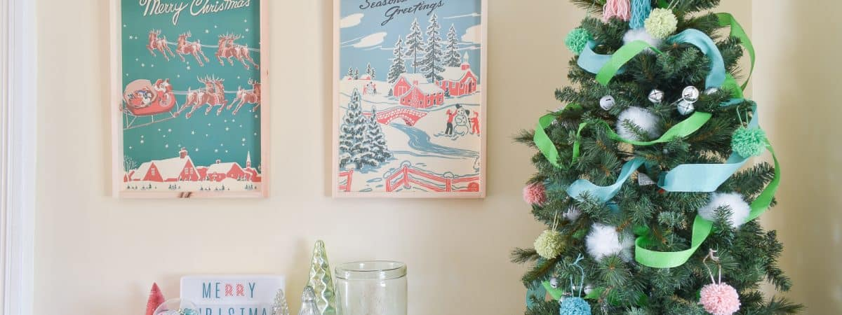 DIY Retro Christmas Art