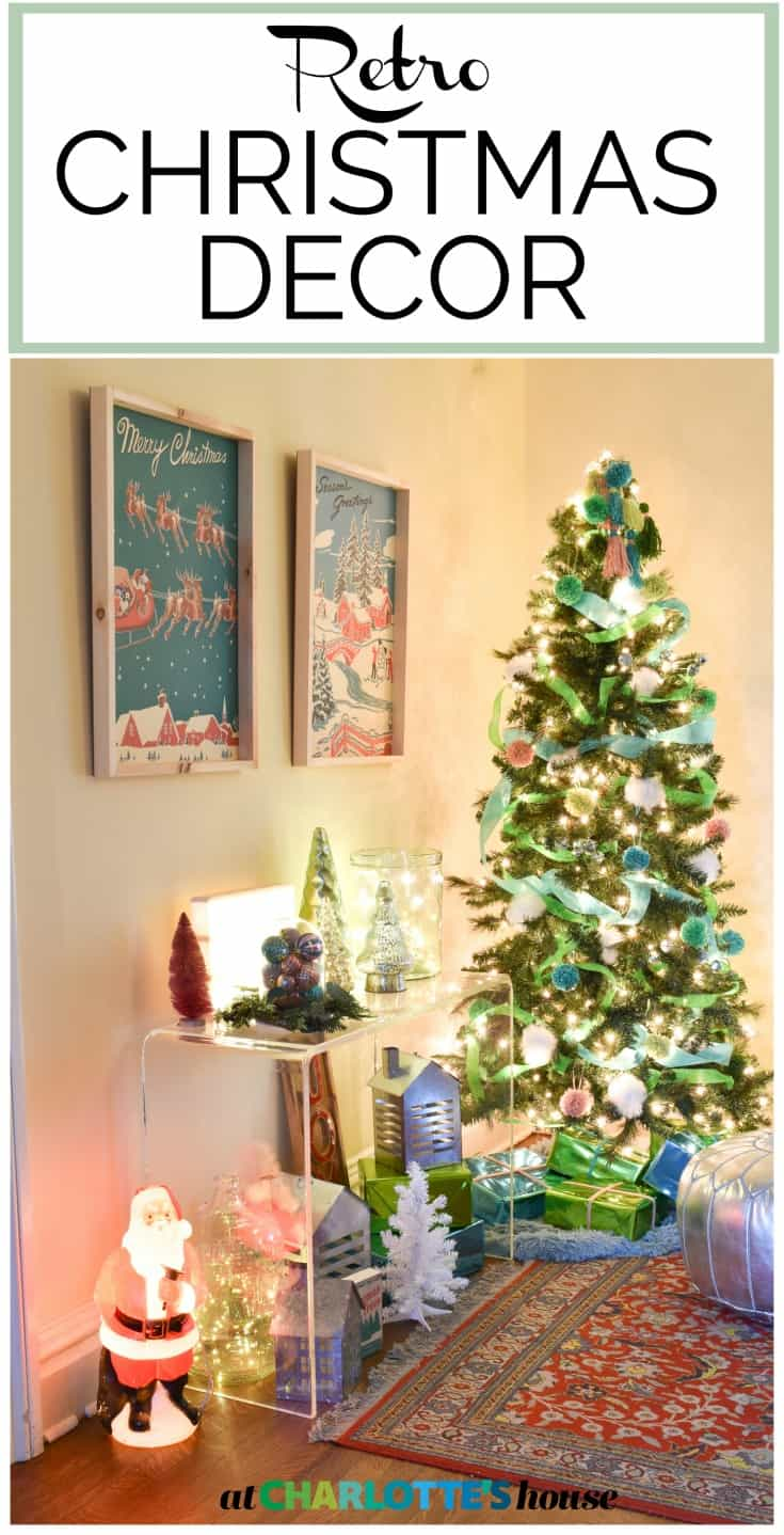fun and colorful retro christmas decor