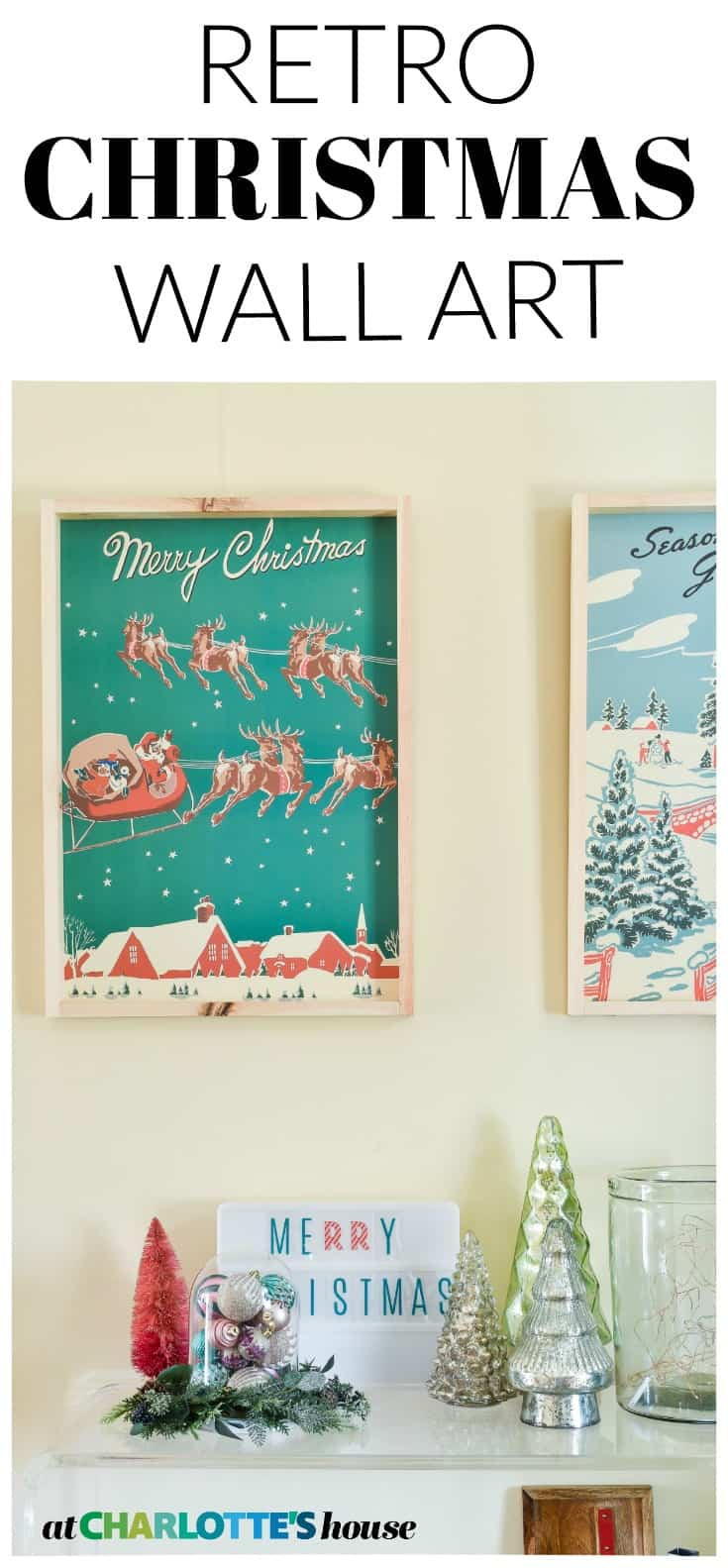 Easy inexpensive christmas wall art... take 15 minutes to make!