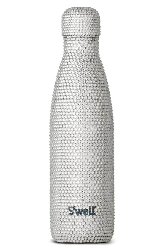 millennial shopping crystal water bottle