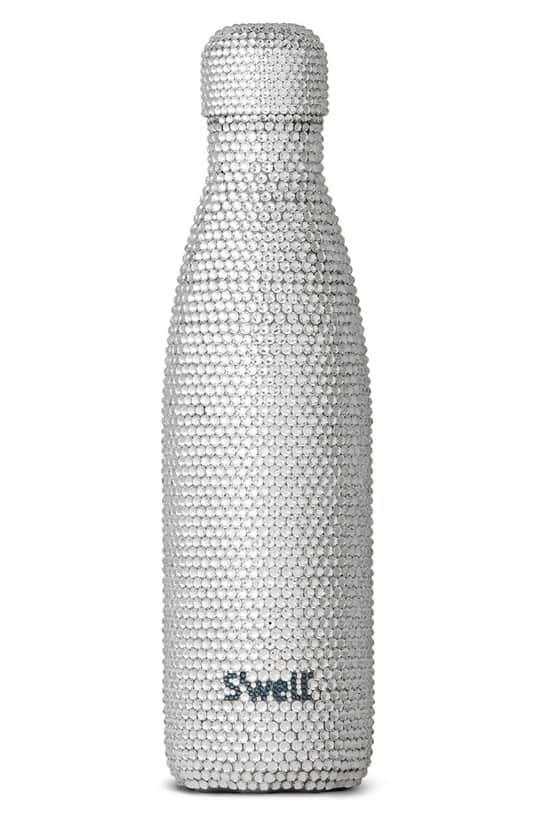 millennial shopping crystal water bottle