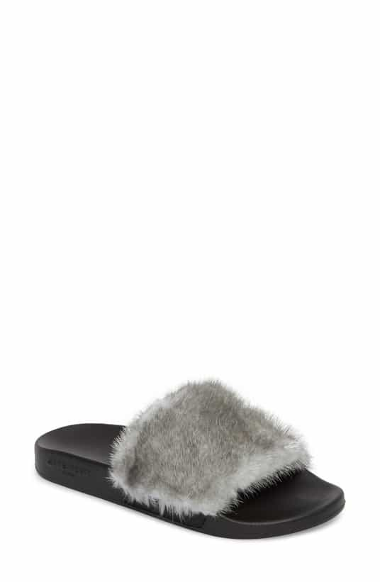 millennial shopping fur slides