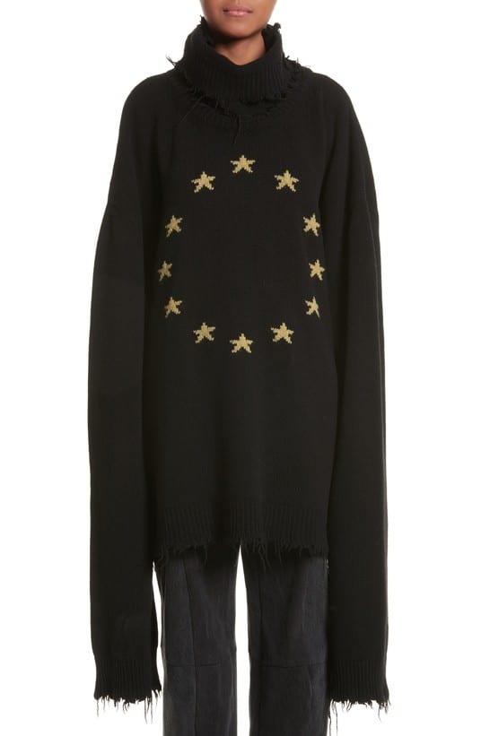 millennial shopping sweatshirt sleeves