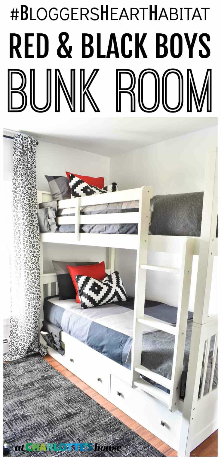 This shared boys bunk room was a design project we did for bloggers heart habitat