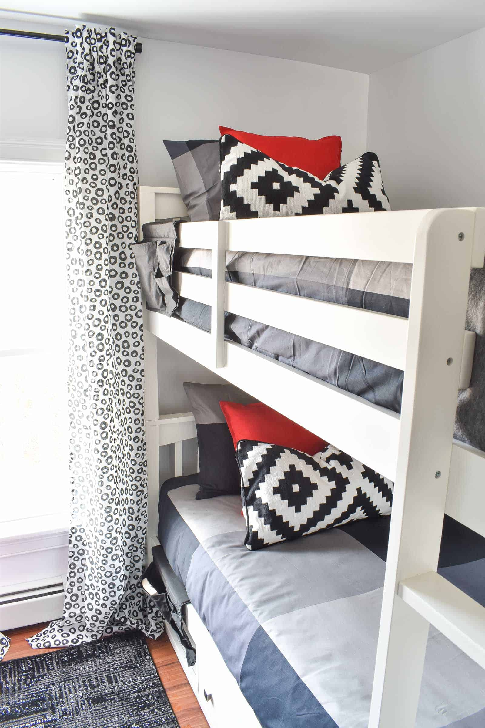 newly design shared boys room with bunk beds