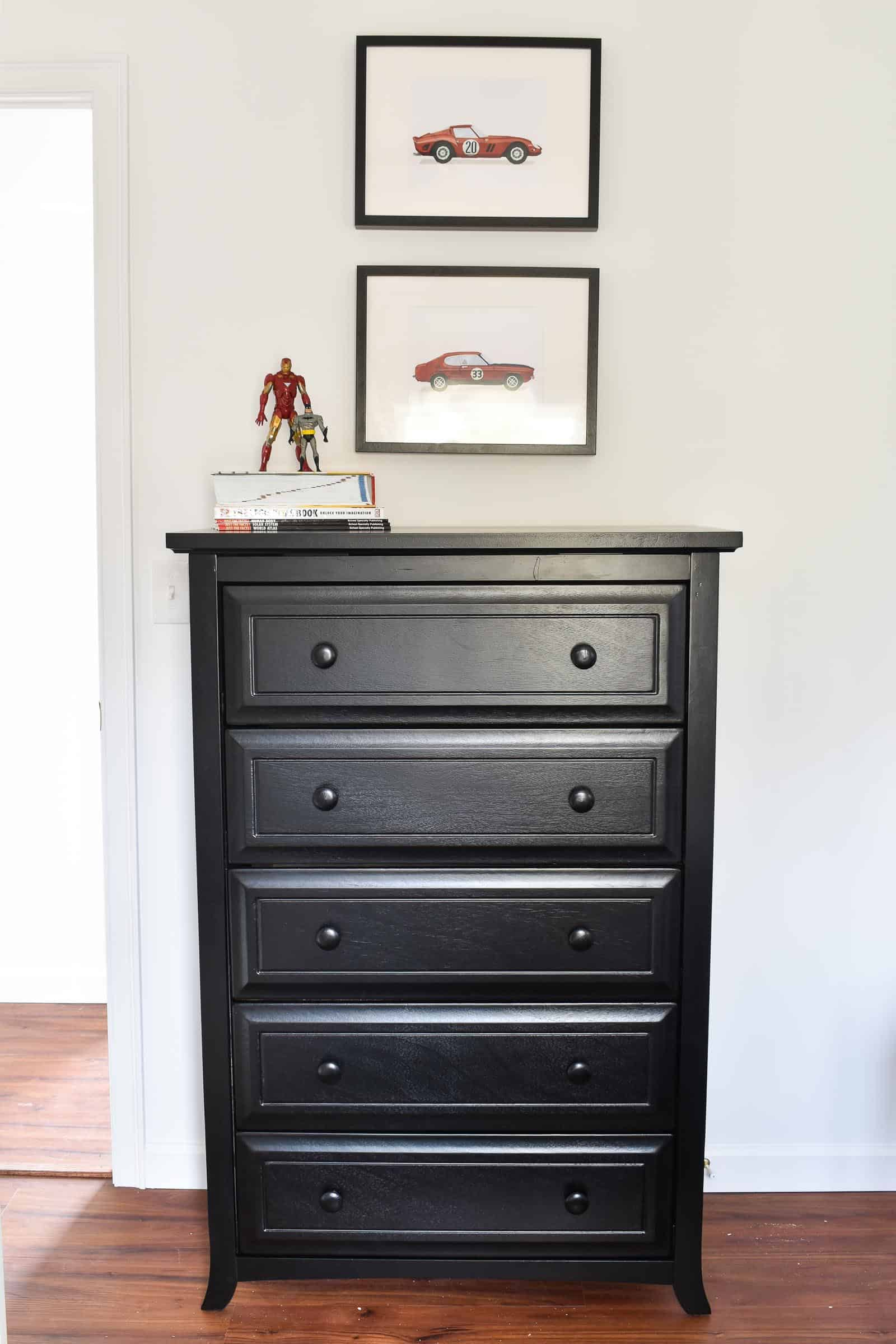 black dresser for shared boys room