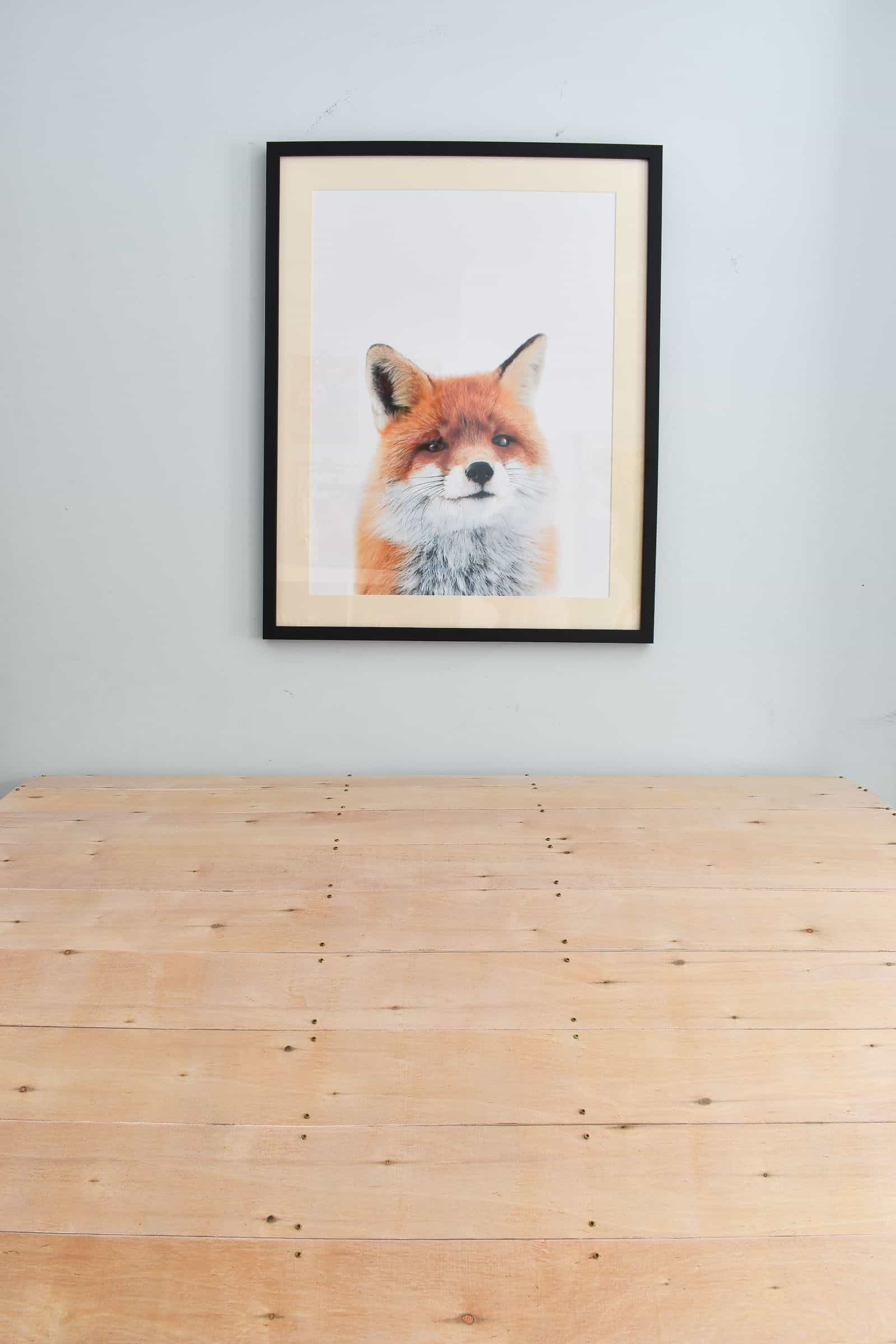 fox print over nook