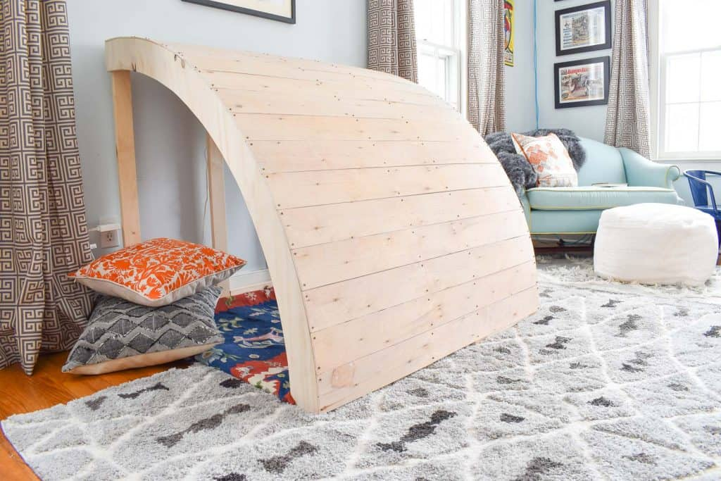 Kids Wooden Reading Nook