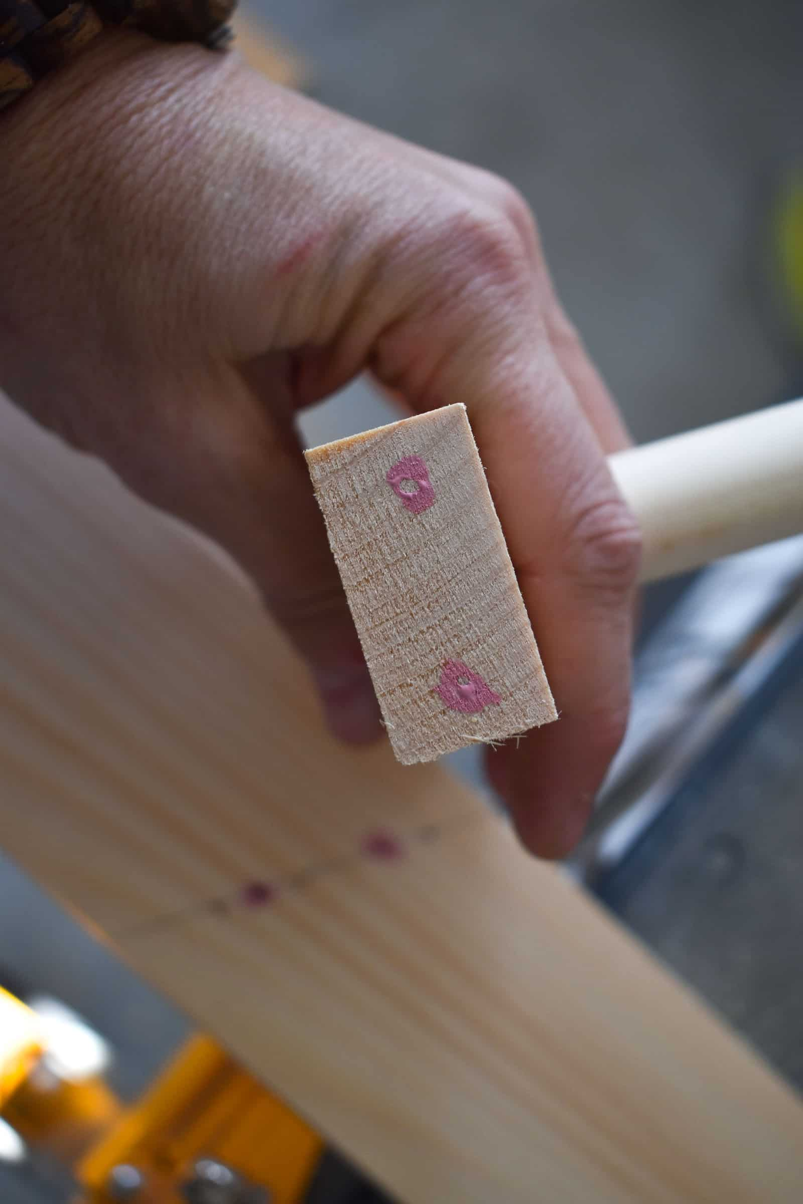 paint marking where to predrill