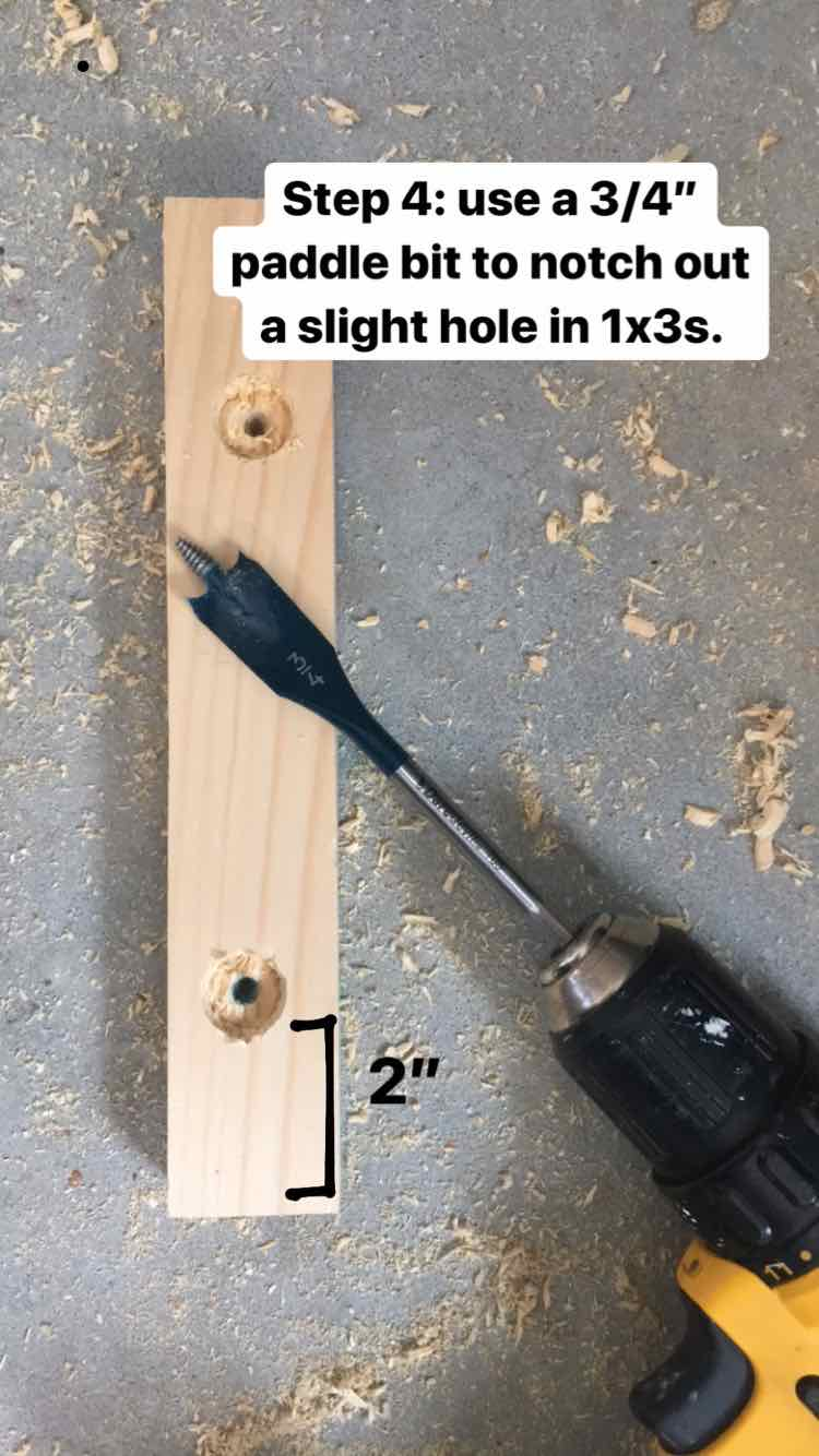 paddle bit to drill hole for dowel